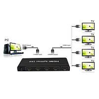 Сплиттер 1х4 разветвитель HDMI сигнала на 4 телевизора