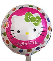 """ФОЛЬГОВАНІ КУЛІ КРУГЛІ """"HELLO KITTY"""". ДІАМЕТР: 45 СМ."""