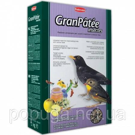 Корм для комахоїдних птахів GranPatee insectes Padovan, 1кг до 29.06.20