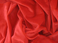 Стрейч-бархат гладкий CHRISANNE (Англия) красный (red)