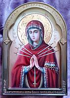 Икона писаная Божьей Матери Семистрельная (Умягчение злых сердец)