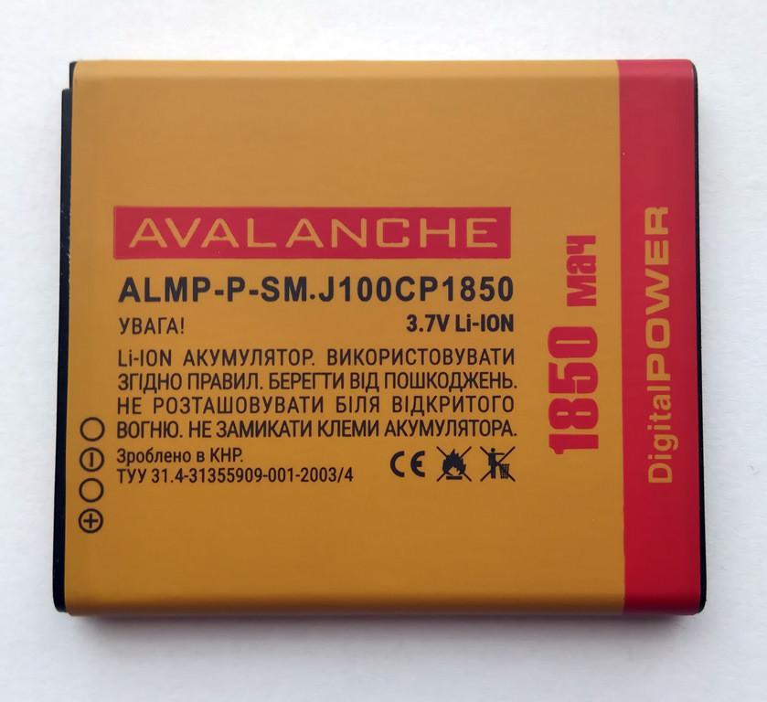 АКБ Avalanche для Samsung J100 Galaxy J1  (EB-BJ100CBE, EB-BJ100BBE) - 1850 мАч