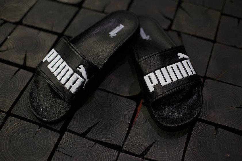 Мужские шлепанцы Puma.Черные