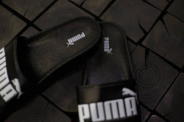 Мужские шлепанцы Puma.Черные , фото 2
