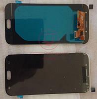 Дисплей модуль Samsung j730 Galaxy J7 (2017) в зборі з тачскріном, чорний, оригінал