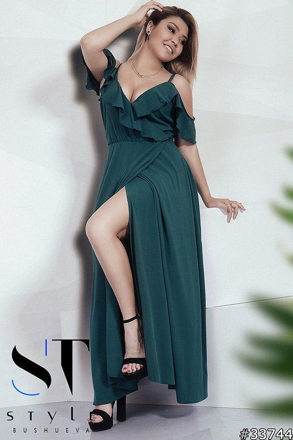 5994ff831b4 Темно зеленое шикарное платье в пол - Интернет-магазин