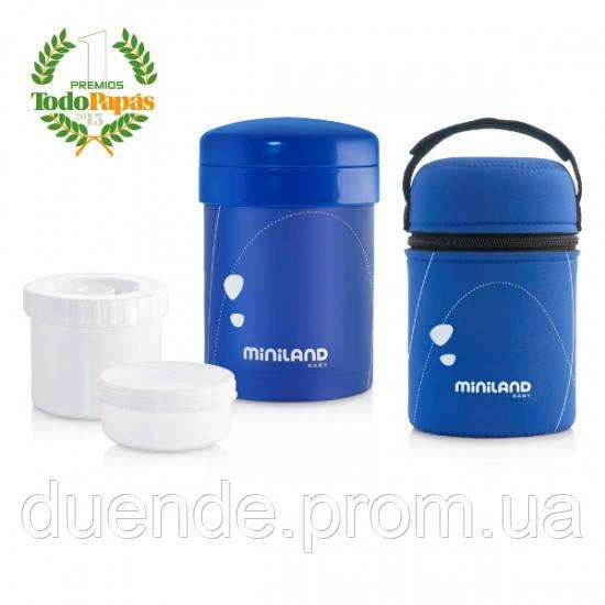 Пищевой термос Miniland Baby с герметичными контейнерами Thermetic синий / Min 89152