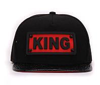 Кепка с прямым козырьком KING Чёрная 029
