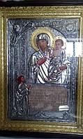 Храмовая икона Божьей Матери «Нечаянная Радость» с позолотой 120*85 см