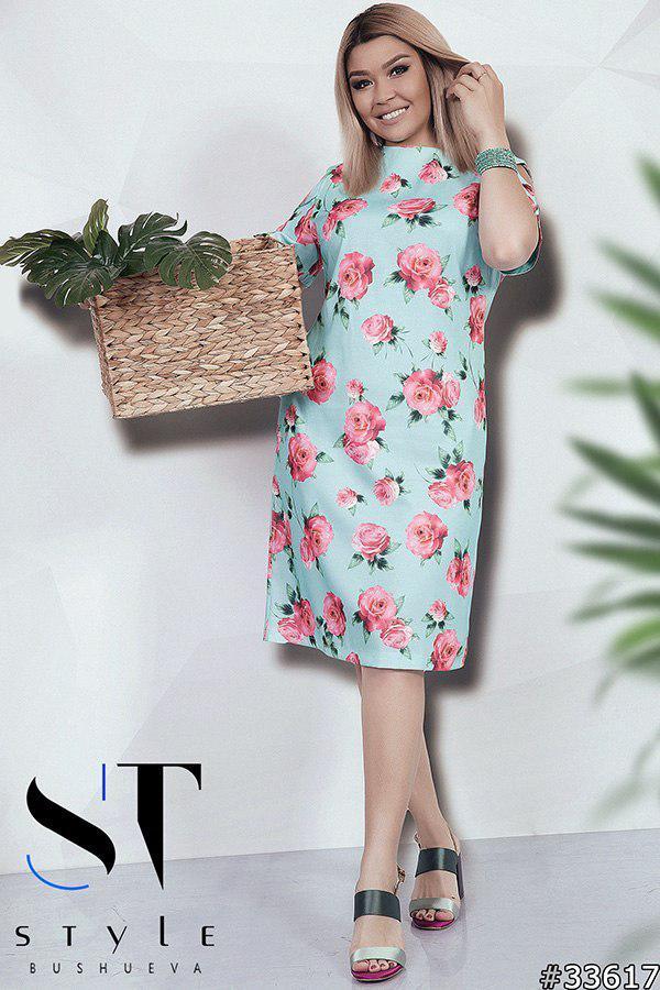 bcf07c5576551fe Молодежное платье из льна батальной серии - Интернет-магазин