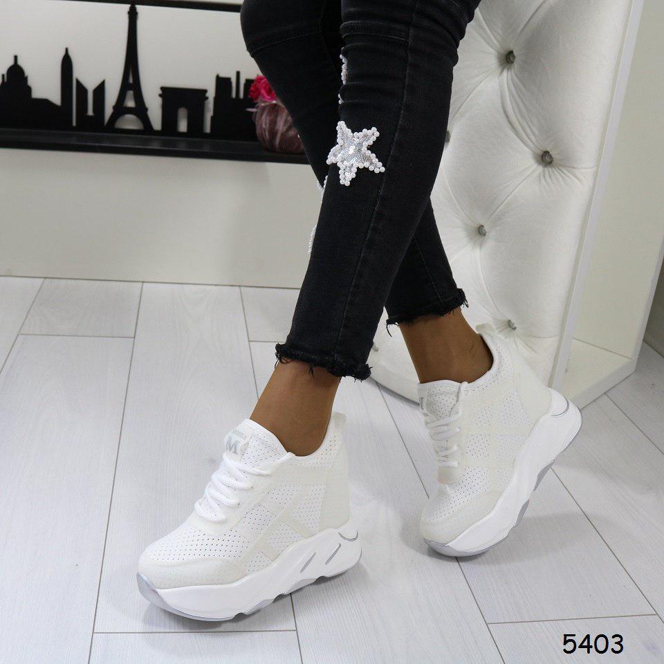 d62de46d Кроссовки на платформе белые, стильные, женская спортивная обувь -  Интернет-магазин