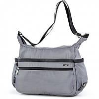 Жіноча тканинна сумка на плече сіра модна на одне відділення Dolly 648 під формат А4 36х26х18см, фото 1
