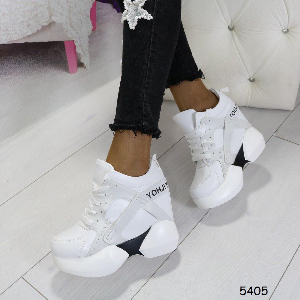 62cabc1e 38-й!!! Кроссовки на платформе белые, стильные, женская спортивная ...