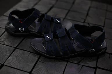Сандали мужские Nike.Синие,красная строчка