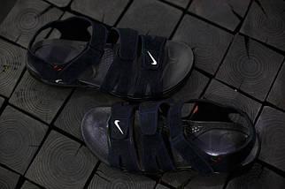 Сандали мужские Nike.Синие,красная строчка, фото 3