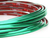 Молдинг декоративный лента 5м зеленый