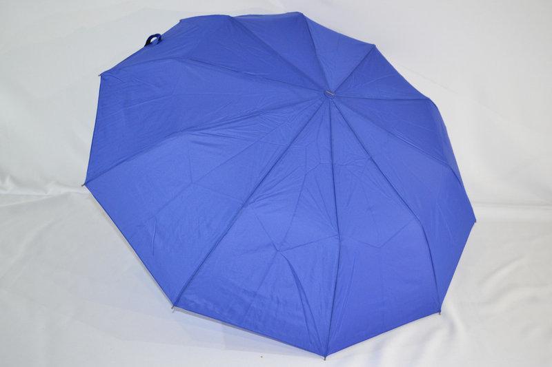 Зонт женский однотонный на 10 спиц цвет синий