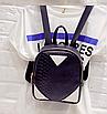 Рюкзак женский кожзам змеиный принт Черный, фото 2