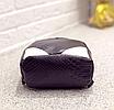 Рюкзак женский кожзам змеиный принт Черный, фото 3