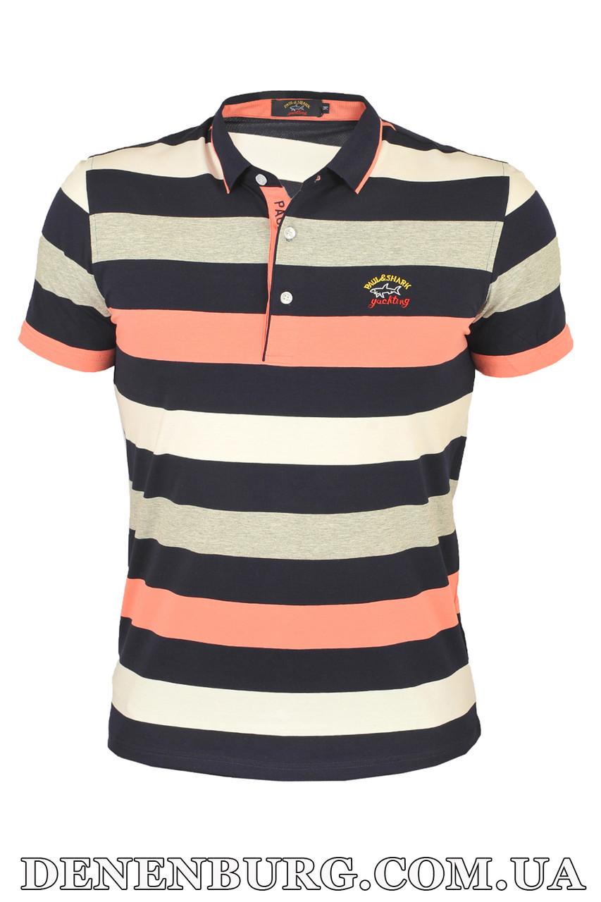 56c6825908b8 Футболка-поло мужская PAUL & SHARK 1895 розовая - Интернет Магазин