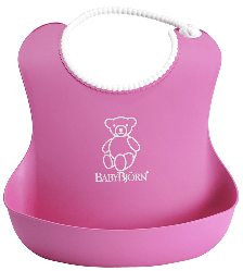 Нагрудник Babybjorn Soft Bib розовый