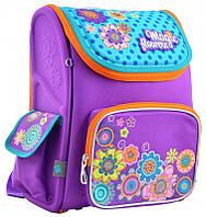 Школьный  каркасный  рюкзак H-17 Flowers для девочек, фото 1