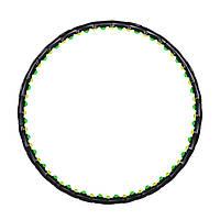 Обруч массажер 80 шариков / диаметр 108 см Hop-Sport  6002 черного цвета / Хула хуп гимнастический