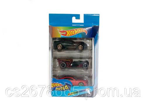 Набор машин HOT WHEEL меняющие цвет (коробка 3 шт. ) EBS757-3