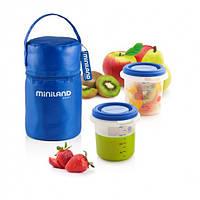 Термосумка Pack-2-Go Hermisized с 2 контейнерами синяя Miniland Baby / Min 89071, фото 1