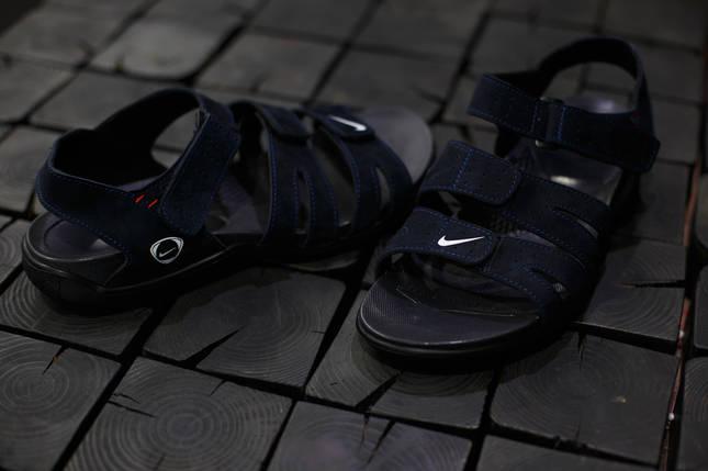 Сандали мужские Nike.Синие,красная строчка, фото 2