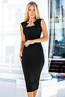 (S, L) Облягаюче чорне плаття-футляр Roksen