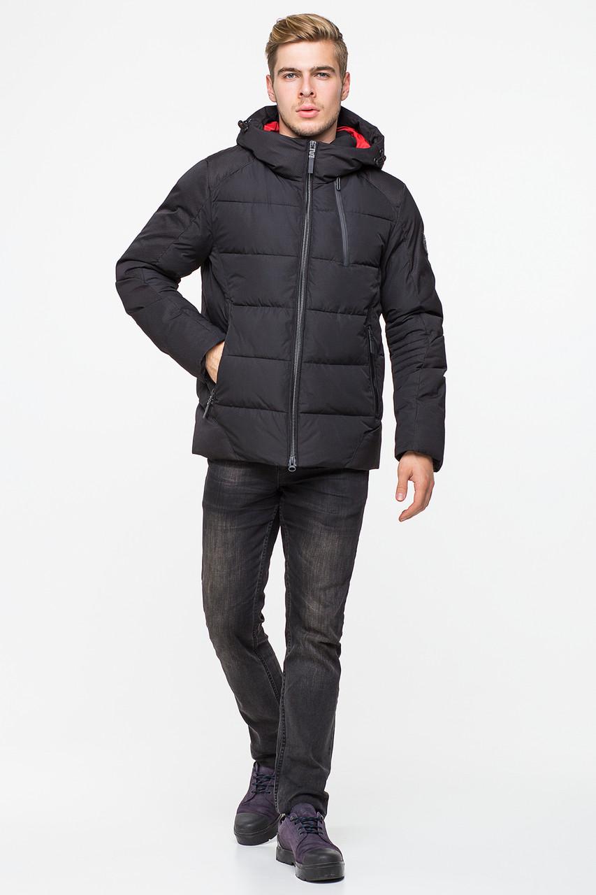 Зимняя мужская куртка CW18MD010CN в спортивном стиле - черная (#701) 46 размер