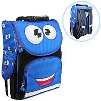 Ранец (рюкзак) - короб ортопедический для мальчика- Смайлик синий, Smile 988335