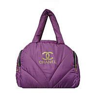 Сумка-саквояж текстильная Chanel Сиреневый