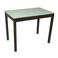 Стеклянный обеденный стол Видрис 93смх60смх75см с прямыми ногами из натурального дерева, фото 1