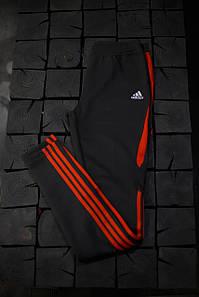Женские лосины Adidas.Тёмно серые/три полоски
