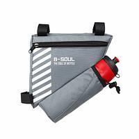 Велосипедная сумка B-SOUL под раму с держателем для фляги, фото 1