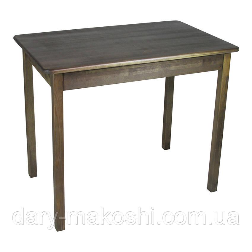 Стол из натурального дерева Легно с прямыми деревянными ногами (тис)