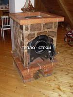 Отопительные печи  для дома  Эконом 3в1