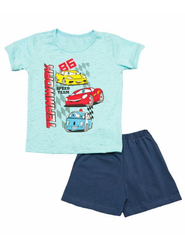 Летний комплект для мальчика футболка и шорты оптом
