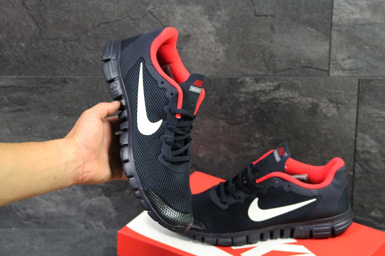 Кроссовки мужские Nike Free ran 3.0 черные с белым (Реплика ААА+) - bonny 32318cd43458e