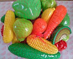 """Детский набор продуктов """"Овощи и фрукты"""", ТМ Орион, 518"""