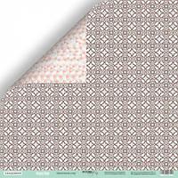 Лист двусторонней бумаги 30x30 от Scrapmir Цветочный узор из коллекции Happy Days