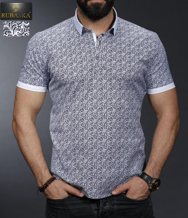 Стильная мужская футболка поло с короткими рукавами производство Турция,С,М,Л,ХЛ