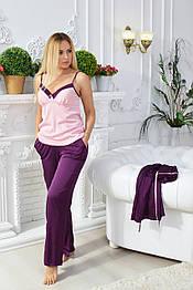Комплект брючный MiaNaGreen Пф415б Фиолет + розовый