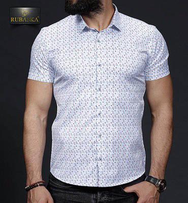 Стильная мужская рубашка с короткими рукавами производство Турция,С,М,Л,ХЛ 52ed6056b1b
