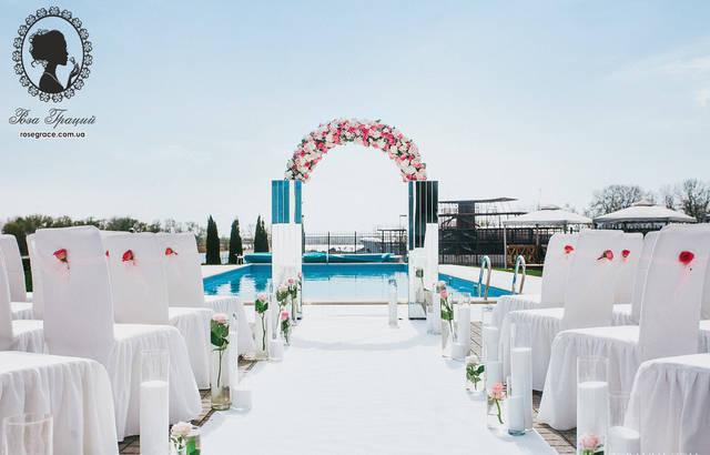 Зеркальная свадьба в ресторане Порто Рива 7