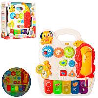 Детский игровой развивающий и обучающий центр, музыка, звук английский, свет, трещотка, SY84