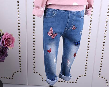 Джинсы с бабочками для девочки, фото 2