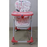 Детский стульчик для кормления, с выдвижным столиком Bambi (M 3233-17)